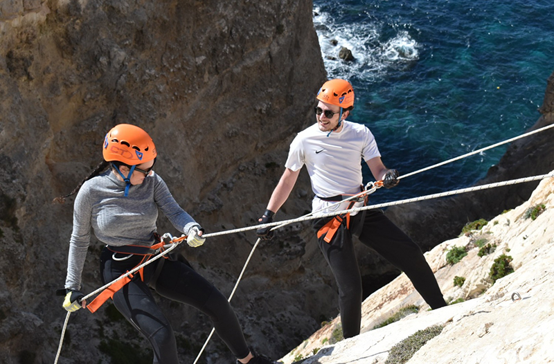 Abseiling in Malta
